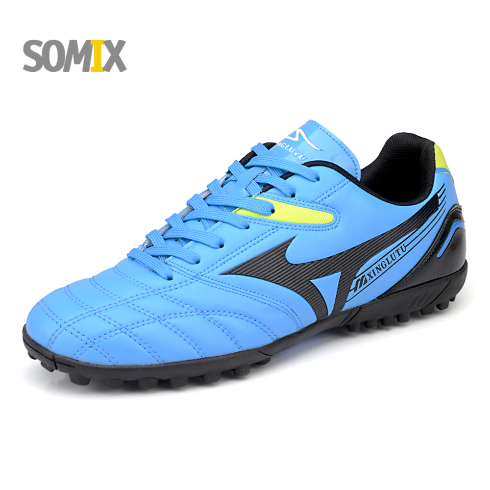 Free shipping Men Soccer Shoes 2017 Indoor Men Sports Training Football Shoes FG Boy Kids Futsal Shock-Absorption Football Boots<br>