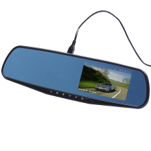 4.3'' inch Rearview Dual Lens TFT LCD Parking Car Rear View Mirror Monitor for Backup Reverse 2 Camera with G-sensor 1080P(China)