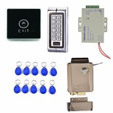 1000 Users Metal Keypad Access Control System + Electric Door Lock +Touch Door Switch Button K2(China)