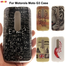 LELOZI High Quality Glossy IMD Printing Soft TPU Back Cell Phone Case Cover For Motorola Moto G3 G 3nd Gen G 3 Phone Cases Bags(China)