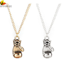 OPPOHERE Fine Quality Men Women Stainless Steel Boxing Glove Pendant Necklace Chain New