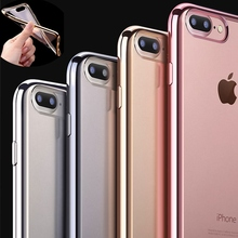 Popular Electroplating Frame TUP Soft Phone Case for Apple iPhone 5 5S SE 6 6S 7 7 Plus 6Plus 6sPlus i5 i6 i7 Clear Shell Cover