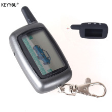 KEYYOU Russia Version Case Keychain For Starline A9 LCD Remote 2 Way Two Way Car Alarm System Free Shipping With Logo