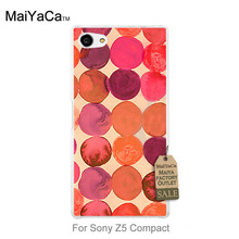 MaiYaCa Newest Fashion Luxury phone case   red orange Raindrop Round image For case sony z5 Compact