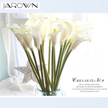 Artificial calla lily flower simulation real touch flowers hand bouquet flores wedding decoration fake flowers party supplies