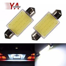 1X Free shipping car styling 31mm 36mm 39mm C5W 12V 3W Car led festoon light COB 12 chips Auto led LIGHT LAMP bulbs car light(China)