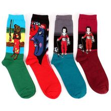 1Pair Retro Vintage Unisex Women Men Modern European Styles Fashion Renaissance Van Gogh Art Oil Painting Warm Cotton Socks Hot(China)