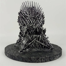 Game of Thrones action figure Toys Sword Chair Model Toy Song of Ice and Fire The Iron Throne Desk Christmas Gift 17cm(China)