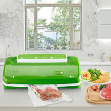 Glantop Fully-Automatic Vacuum Packaging Machine Household Food Vacuum Sealer Film Sealer Vacuum Machine 220V(China)