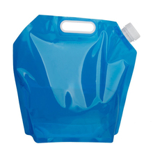 10L Folding Collapsible Camping Emergency Drinking Water Container Storage Bag Pouch for Camping Hiking Picnic BBQ (Blue)