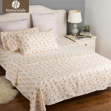 Naturelife Cream Printed Dogs Design Sheet Set Soft Woven Bedspread Bed Sheet Smooth Microfiber Coverlet Sets(China)