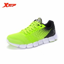 XTEP Brand 2016 Men's Sports Wholesale Running Shoes Sneakers Mens Trainers Light Breathable Outdoor Athletic Shoes 985119113716