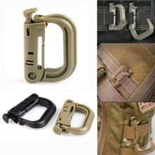 4 PCS/Lot D-Type Carabiner Buckle Camp Spring Snap Clip Hook Keychain Hiking Bottle Opener Buckle Multifunction Travel Tools