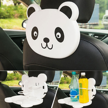 Hot sell Foldable Auto Car Back Seat Table Drink Food Cup Tray Holder Stand Desk storage shelves 4 colors Meal Cup Desk Table(China)