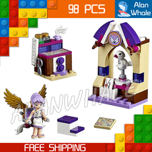98pcs 2016 New Bela 10408  Aira's Creative Workshop drawer Building Blocks Girls stand Brick Toys Compatible With Lego ELVES