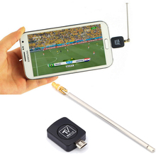 Micro USB Mini DVB-T HD TV Tuner Digital Satellite Dongle Receiver+Antenna For Android 4.03-4.10 Phone Mobile TV Tuner