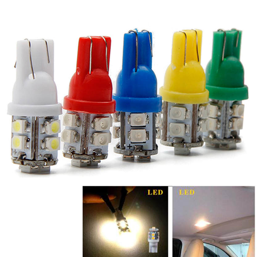 1X Warm White T10 10-SMD Car Side Wedge LED Light Lamp Bulb W5W 194 168 2825 Best Price Nov 29<br><br>Aliexpress