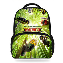 14Inch LEGO Ninjago School Backpack Set Children Cartoon Movie Printed Bag Kids Boys Girls