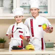 giacca chef Summer Short-sleeved Chef Service Hotel Working Wear Restaurant Work Clothes Tooling Uniform Cook Multicolor Tops