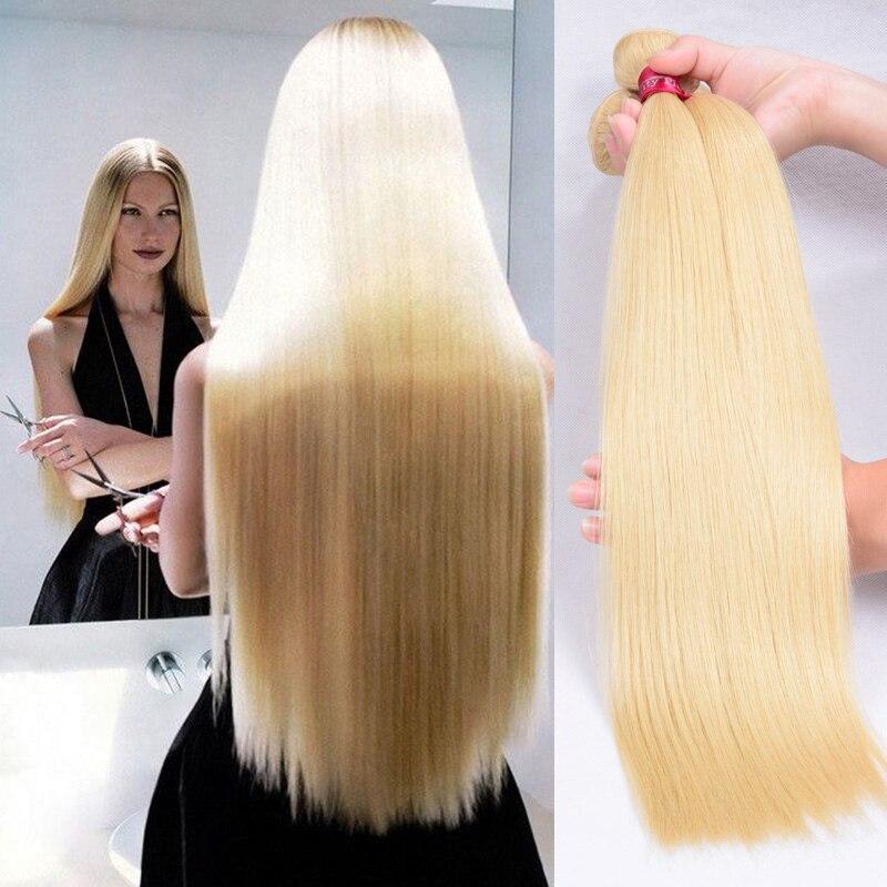 3 pcs lot 7A grade 613 blonde Brazilian virgin hair bundles deals 100% unprocessed platinum blonde human hair extensions<br><br>Aliexpress