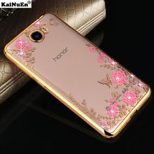 luxury diamond soft tpu back coque,cover,case for huawei y5 ii y5II 2 cun-u29 silicon silicone phone cases accessories