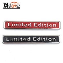 3D metal limited edition stickers car modeling limited edition logo badge motorcycle decals Audi Q3 A4 Q5 A6 A4L A6L R8 Q7