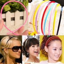 50Pcs 4MM Plastic Teeth Lady Girl Headband Hairband Alice Band Hair Accessories Kids Headbands Children Headband Candy Color