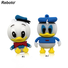 Lovely donald duck usb flash drive 64gb cartoon pen drive 32gb usb pendrive disk flash memory stick 16gb free shipping