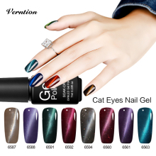 Verntion Acrylic Nail UV Gel Lucky Semi Permanent Cat Eyes Uv Gel Polish Soak Off Base and The Top Magnetic Kit Nail Varnish(China)
