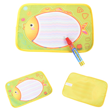 Wholesale 29x19cm Baby Colorful Fish design Water Doodle Drawing board Baby play Water mat Toys With Magic Pen 1PCS