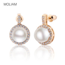 Buy MOLIAM New Summer Classic Simulated Pearl Earring Fashion Accessories Crystal Zircon Stud Earings Jewelry Women Bijoux MLE504 for $4.18 in AliExpress store