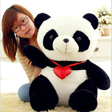 100% New Manufacturers selling 40cm love cute panda doll Orea black flower panda doll plush toys(China)