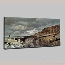 Handpainted Monet and the sea Seascapes Oil Painting Reproduction Impressionist Oil Painting On Canvas Wall Picture Home Decor