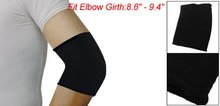 Hot Sport Black Elastic Neoprene Elbow Support Sleeve Brace