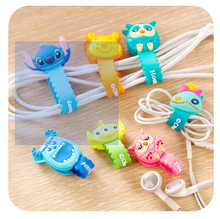 Cartoon Cable Winder, cute earphone winder, waves with a single press button mounted cable manager