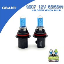 2PCS 2015 GRANT 9007 HB5 Halogen Xenon Bulbs 65/55W 6000K DC12V Bright White Quartz Glass Blue Car Headlights Replacement Lamp