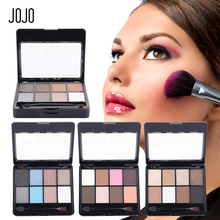 JOJO Multi Function Eyeshadow Palette+Eyebrow Powder+Blusher Double Deck Eye Shadow Make Up Palette Kit Concealer Two Brushes