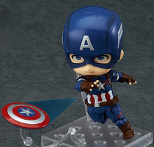 NEW hot 10cm Q version Avengers Captain America action figure toys collection Christmas gift doll with box