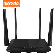 Tenda AC6 1200Mbps 2.4G/5.0GHz Smart Gigabit Wireless WiFi Router Wi-Fi Repeater, APP Remote Manage, English / Russian Firmware(China)
