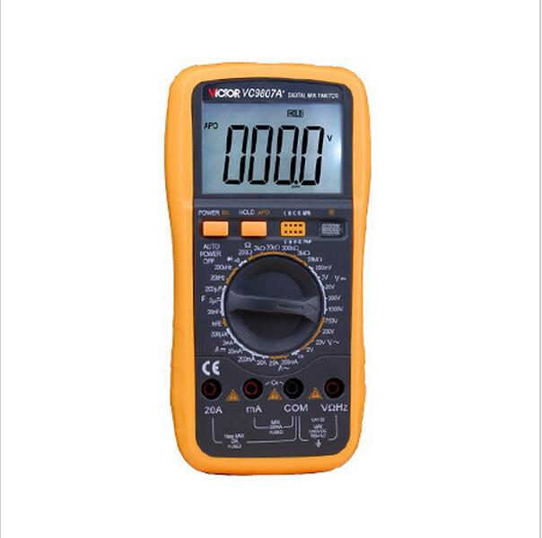 VICTOR VC9807A+ Digital Multimeter AC DC Ammeter Voltmeter Ohmmeter conductivity Capacitance Frequency tester<br>