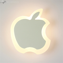 JW Modern Creative Apple Wall Lamp Led Wall Lights for Bedroom Aisle Stairs Corridor Children Room Bedside Lamps Lighting Decor(China)