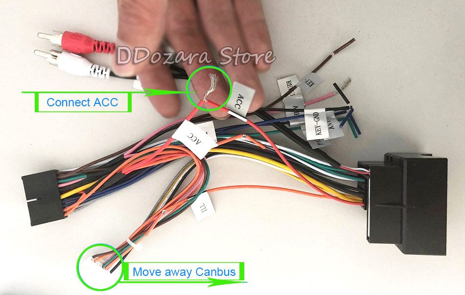 If-your-car-don\'t-need-canbus,-you-can-connect-ACC-power-cable-but-the-Canbus-must-be-disconnected,-like-this-picture.