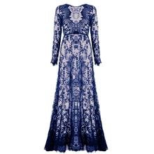 Summer Sexy See Through Dresses Women Floor-Length Black White Lace Dress Adjust Waist Floral Vestido