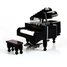 BOHS City Piano Musical Instrument Building Blocks Child Kids Educational Models Pianist Musician Toy ,141pcs(China)