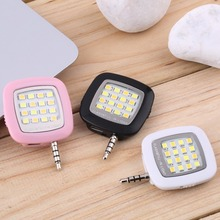 Mini Universal 3.5mm Jack Smart Selfie 16 LED Camera Flashes Light Night Lighting For Notebook Android Phones IOS iPhone 5s 6 6+