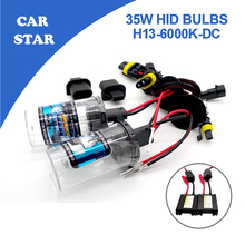 YUMSEEN H13 Xenon Hid Kit 35W 6000K DC12V With Slim Ballast Auto Motocycle HID Xenon replacement Lights Type for vw toyota(China)
