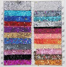 10 yards Big Sky stars glitter synthetic PU leather fabric for Bags, shoes, belts, harnesses, furniture(China)