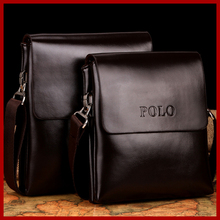Hot sale!! New 2016 fashion POLO high quality leather bag men bag,men messenger bags,retro business leisure bag,free shipping