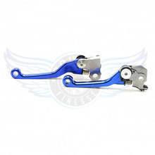 CNC motorcycle Pivot Brake Clutch Levers blue motorbike brake clutch lever For Kawasaki Kx 250f Kx 450 F 06 07 08 09 10 11 12