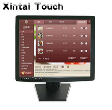 15 inch desktop 4-wire Resistive touch monitor for supermarket cash desk display use(China)